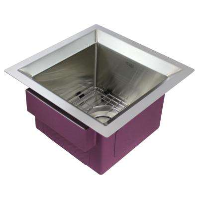Studio Undermount Stainless Steel 15 in. Single Bowl Kitchen Sink in Brushed Finish