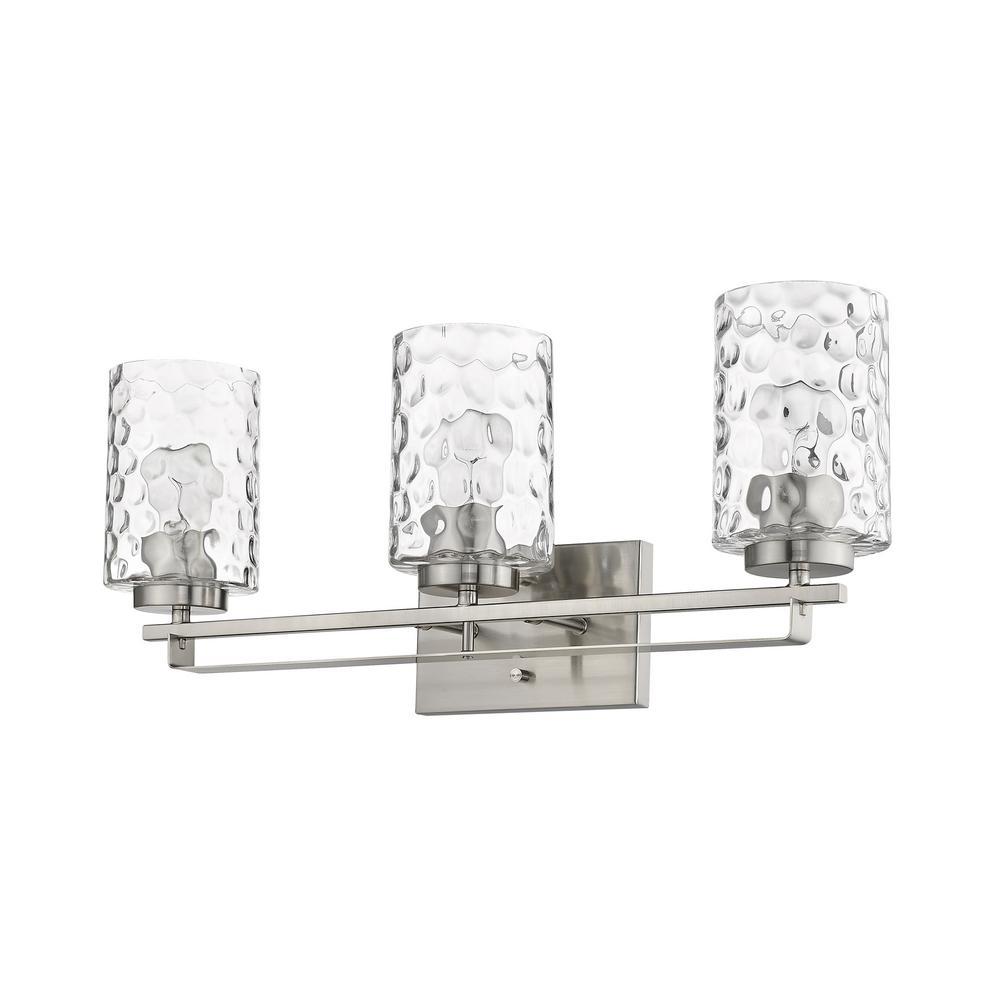 Livvy 24 in. 3-Light Satin Nickel Vanity Light