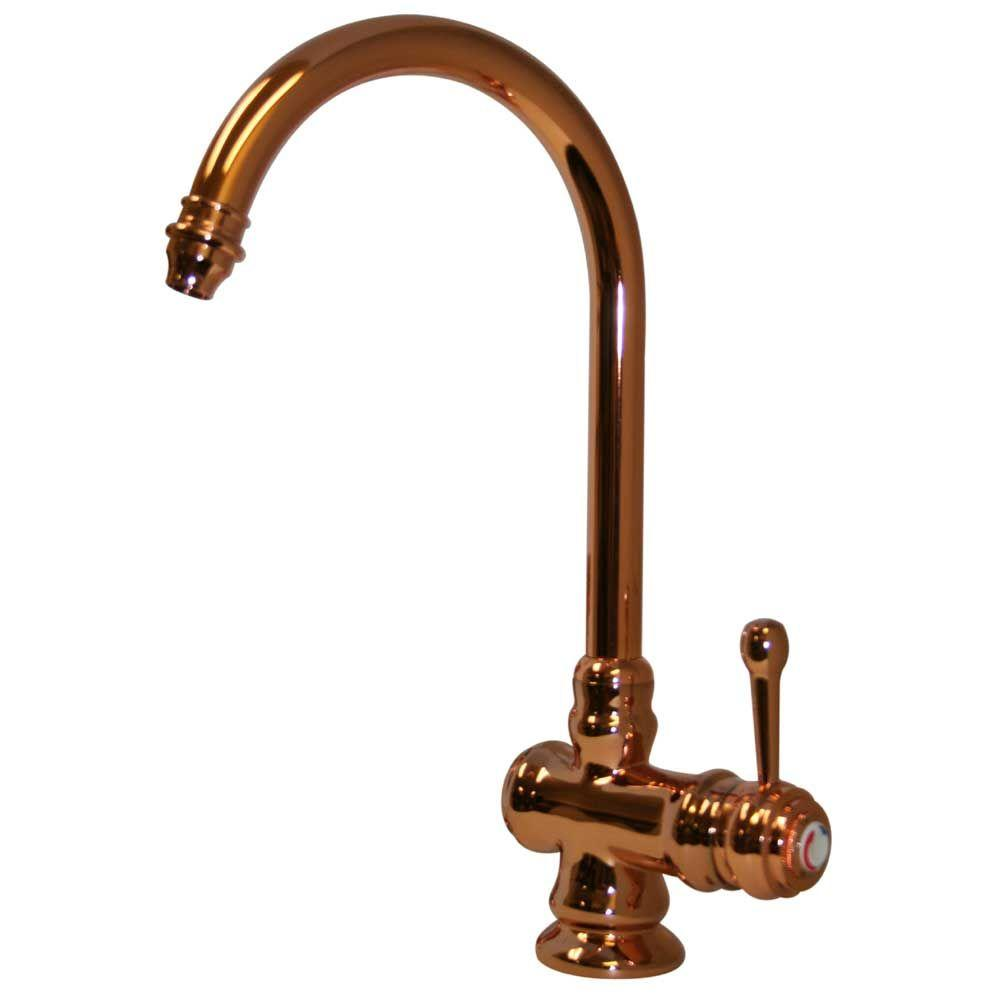 Whitehaus Collection Evolution Single-Handle Kitchen Faucet in Polished Copper