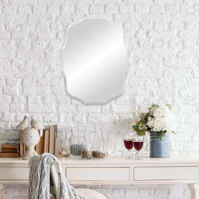 Baroque Scalloped Oval Silver Wall Mirror