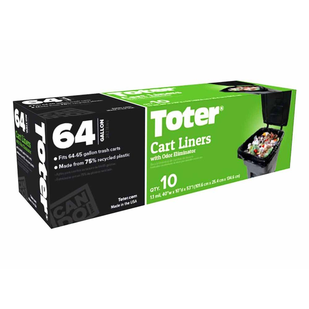 Toter 64 Gal Heavy Duty Cart Liners 10 Count