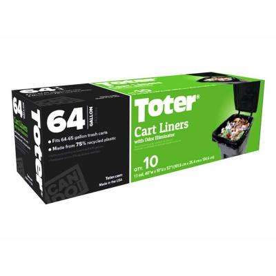 64 Gal. Heavy Duty Cart Liners (10-Count)