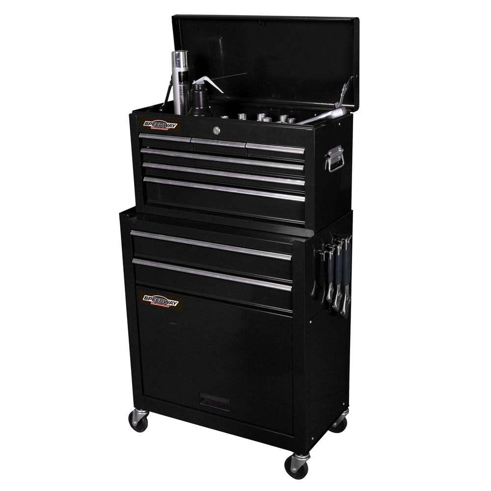 SPEEDWAY 24 in. Wide Portable Tool Chest Combo Cabinet-7238 - The ...