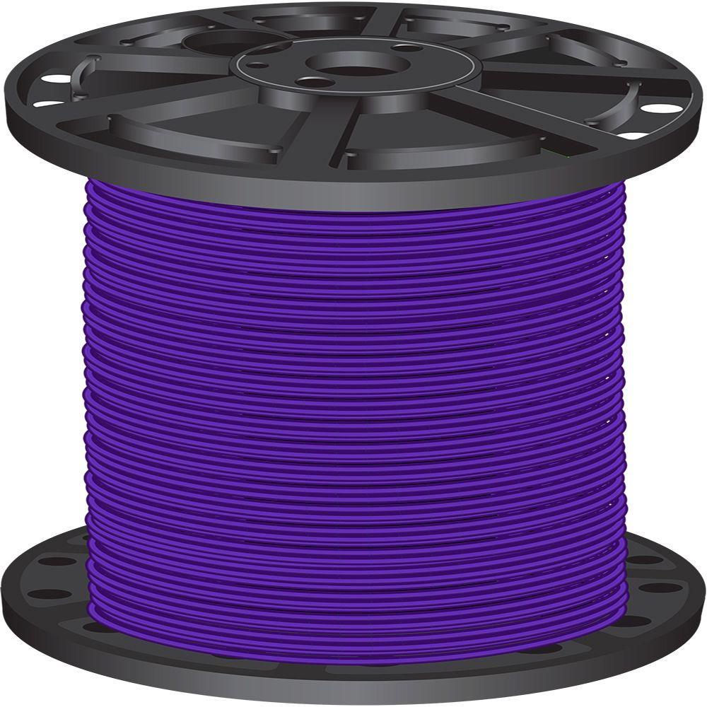 2,500 ft. 10 Purple Solid CU THHN Wire