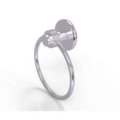Mercury Collection Towel Ring with Groovy Accent in Satin Chrome