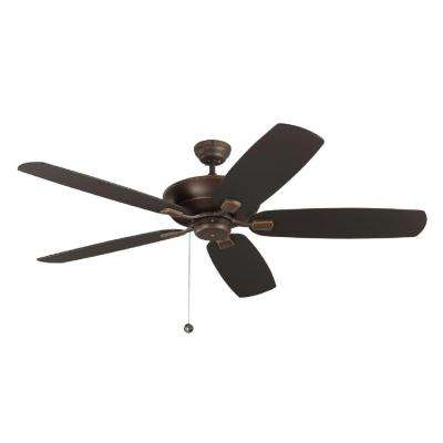 Colony Super Max 60 In. Roman Bronze Ceiling Fan