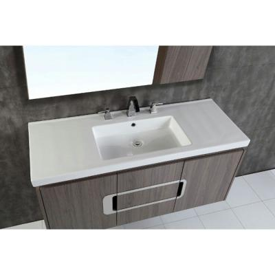 Torrey 48 in. W x 19 in. D x 22 in. H Single Vanity in Gray Brown Oak with Ceramic Vanity Top in White with White Basin
