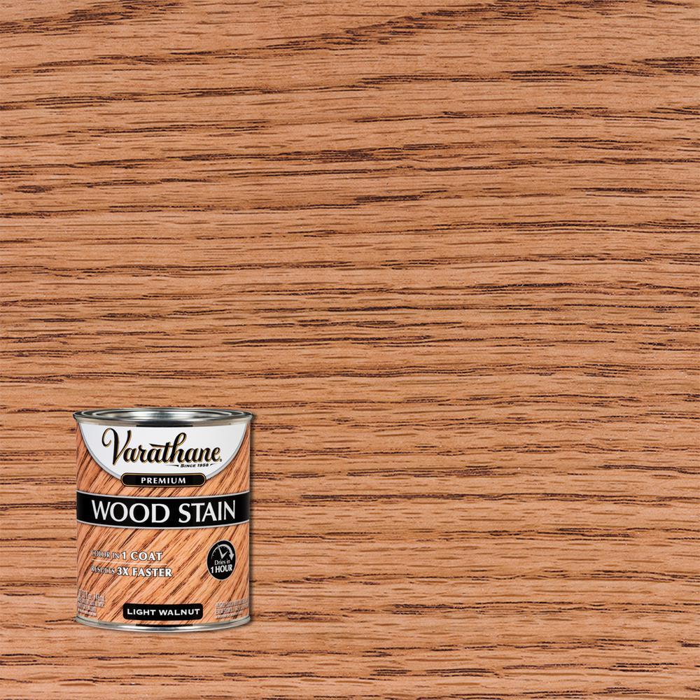 Varathane 1 Qt Light Walnut Premium Fast Dry Interior Wood Stain