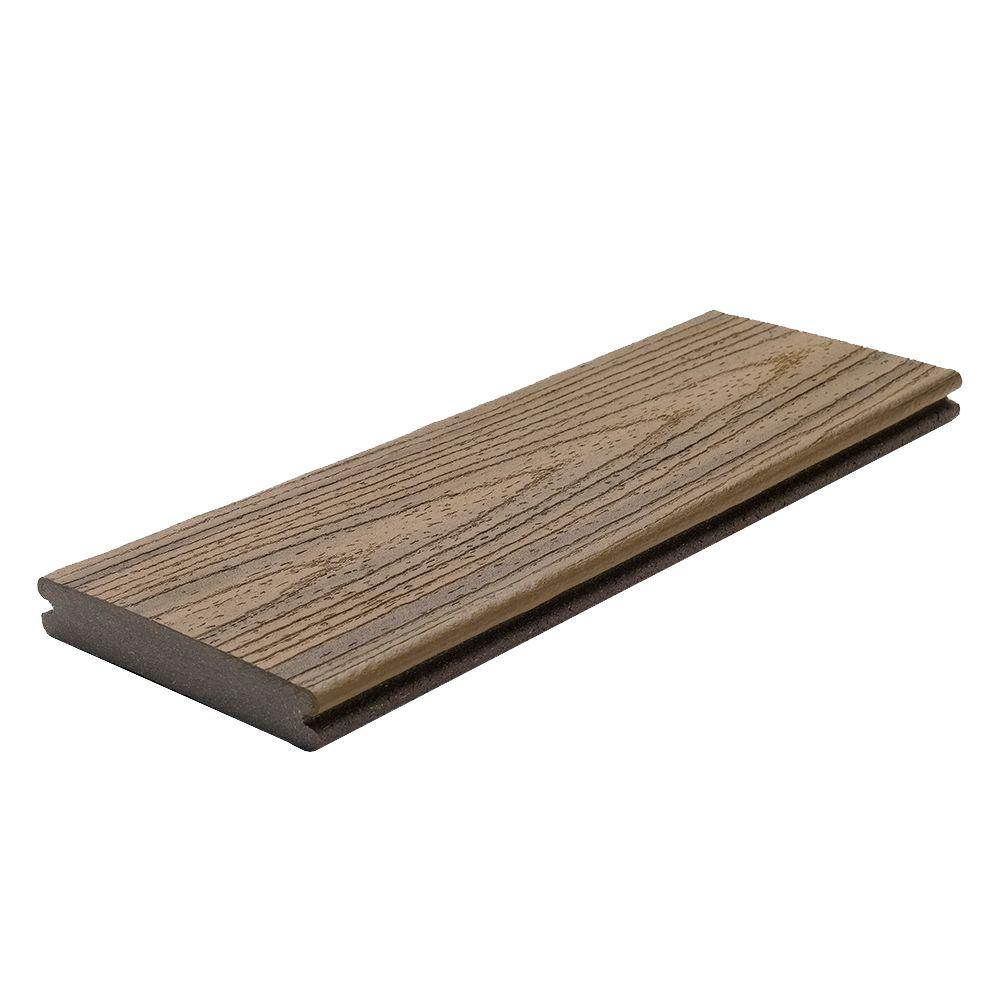 Transcend 1 in x 5 to 1 2 in x 20 ft havana gold for Capped composite decking