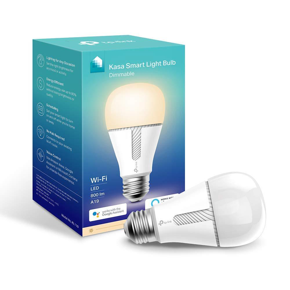TP-LINK Kasa 60-Watt Equivalent 10-Watt A19 - E26 Smart LED Light Bulb 2700K in Soft White