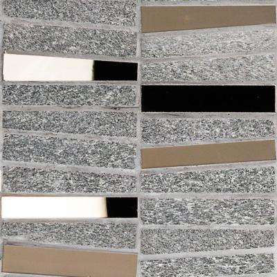 Reflection Trapezoid Bronze Quartz and Mirror Mosaic Tile - 3 in. x 6 in. Sample