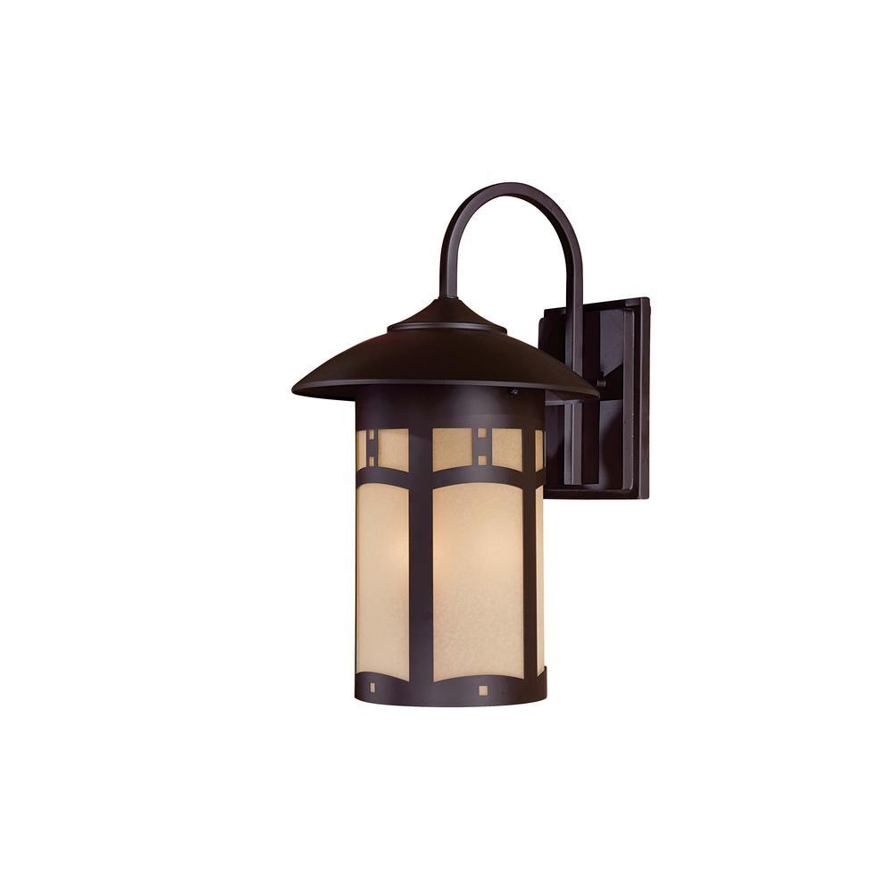 Harveston Manor 3-Light Dorian Bronze Outdoor Wall Mount Lantern