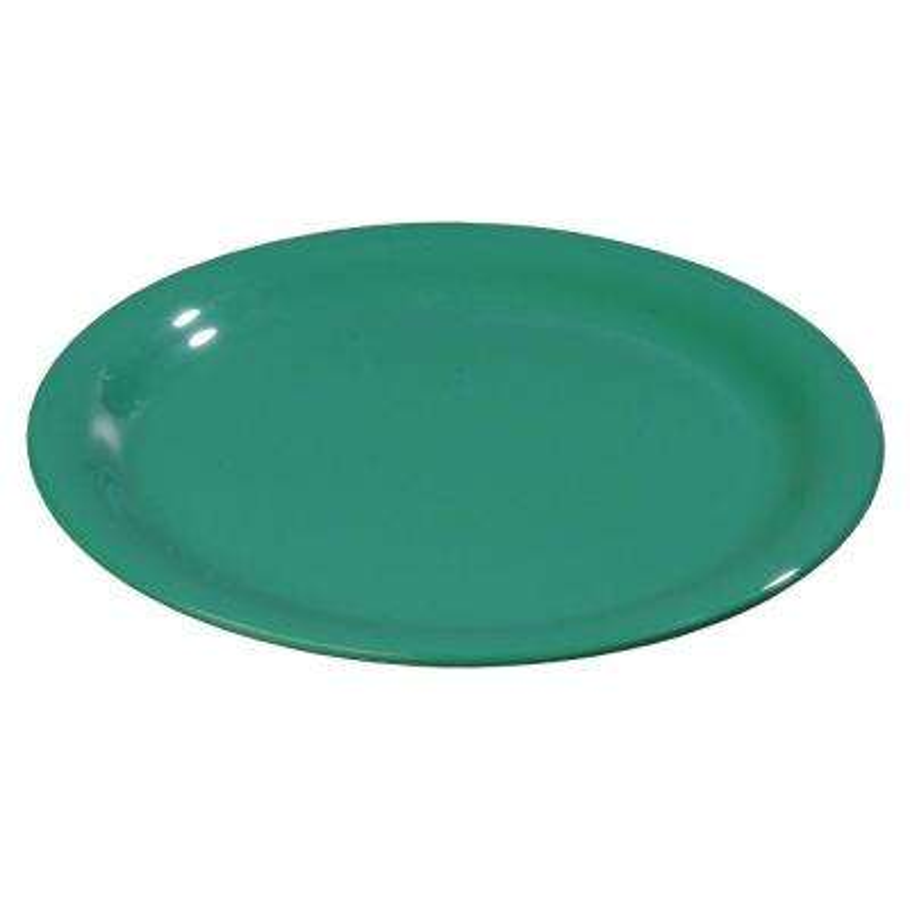 6.5 in. Diameter Melamine Wide Rim Pie Plate in Green (Case of 48)