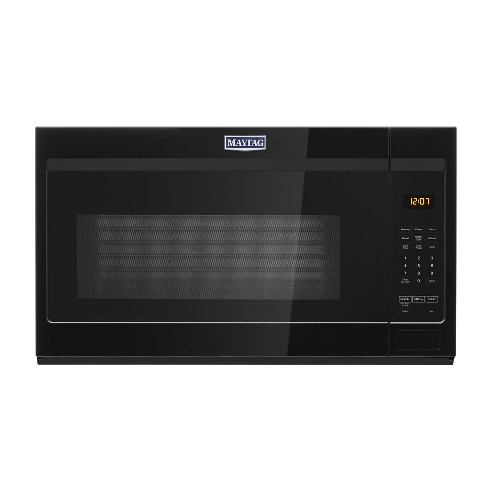 Maytag 1.9 cu. ft. Over the Range Microwave with Stainless Steel Cavity in Black