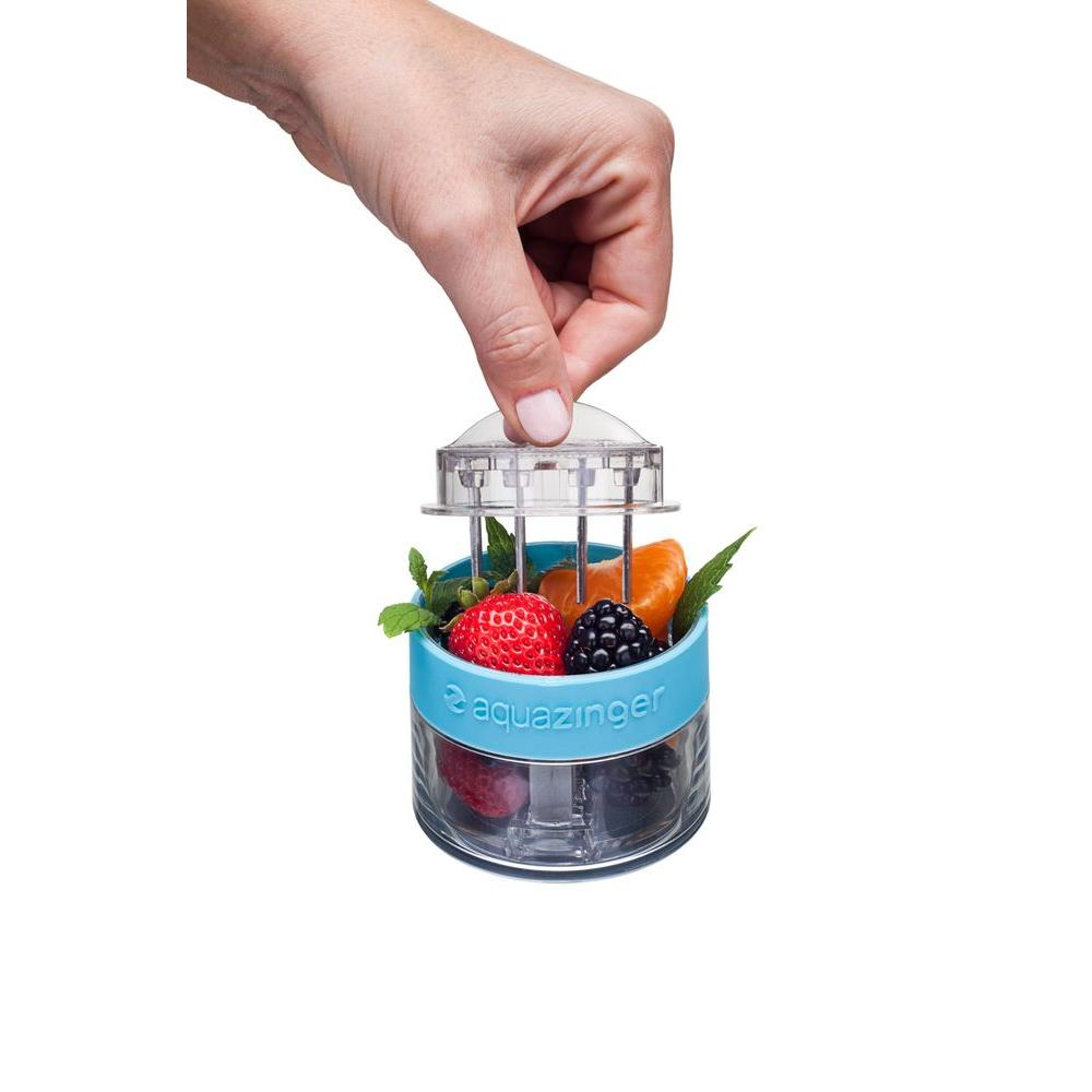 Zing Anything 20 oz. Fruit Infusion Water Bottle in Blue