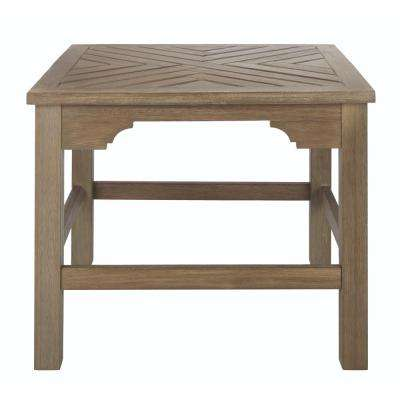 Groovy Blue Hill Wood Square Outdoor Side Table Uwap Interior Chair Design Uwaporg