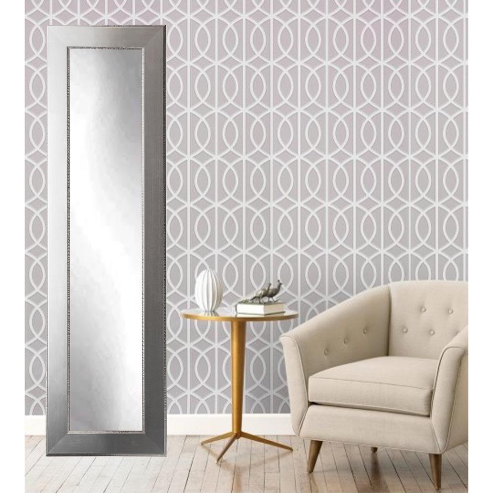 Mod Euro Silver Full Length Framed Mirror-BM12SKINNY - The Home Depot