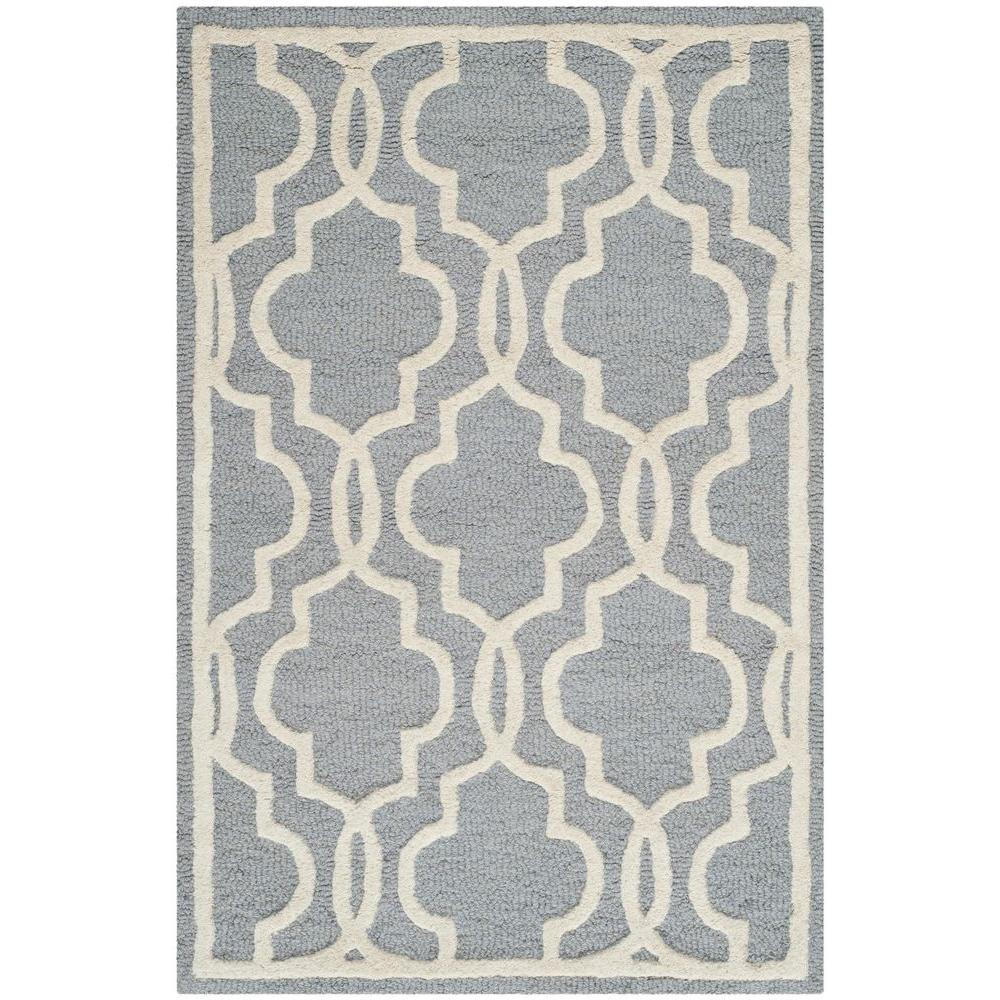 Safavieh Cambridge Silver/Ivory 2 ft. 6 in. x 4 ft. Area Rug