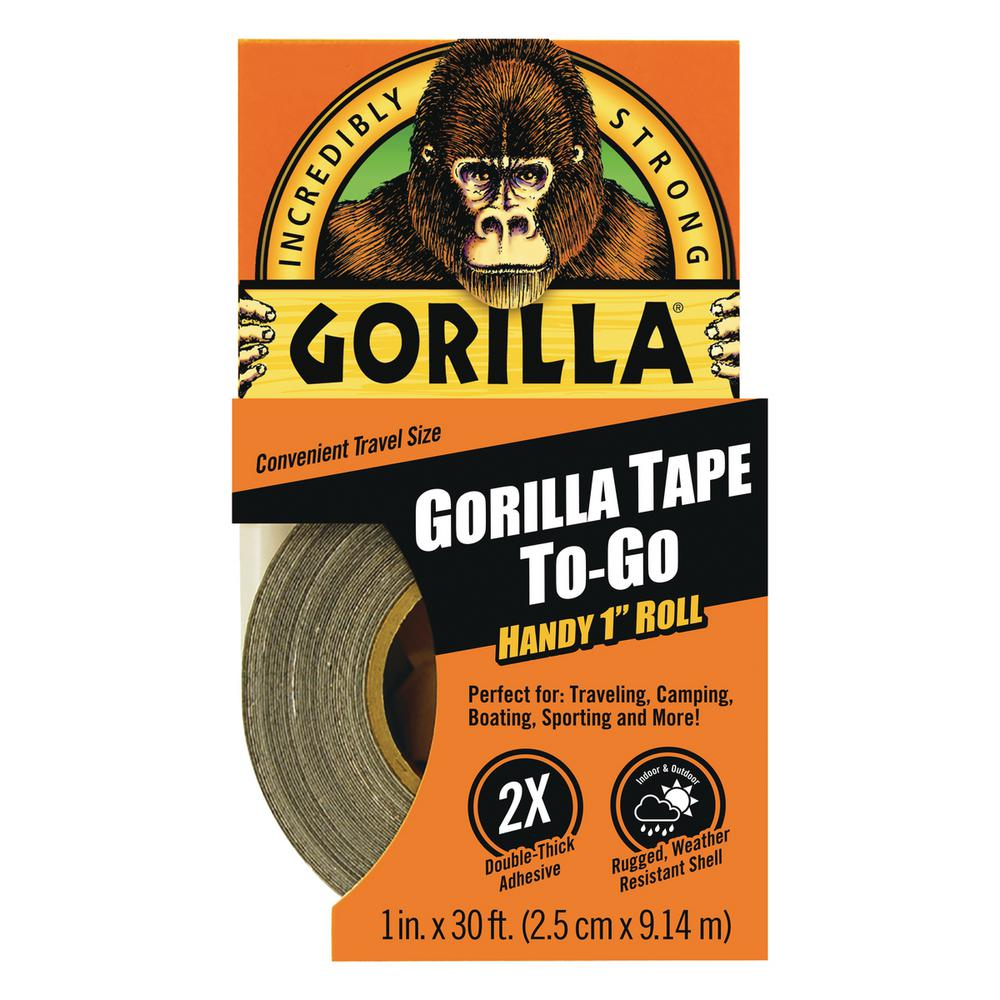 Gorilla 1 in. x 10 yds. Gorilla Tape to Go Duct Tape (6-Pack)