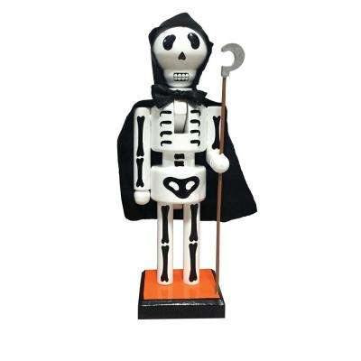 10 in. Caped Skeleton Nutcracker with Staff