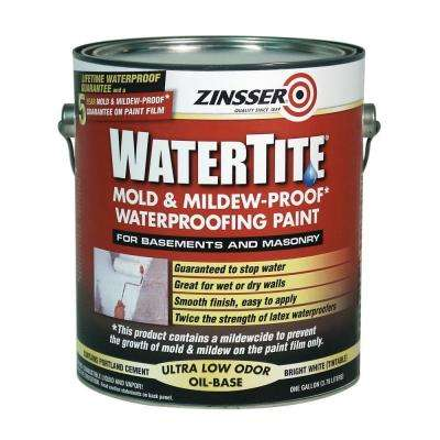 1 gal. WaterTite Mold and Mildew-Proof White Oil Based Waterproofing Interior/Exterior Paint (Case of 2)