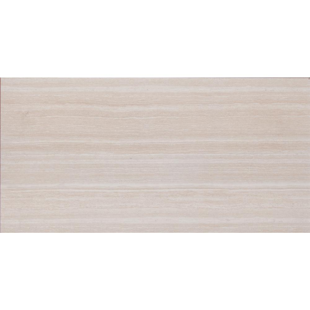 Charisma White 12 in. x 24 in. Glazed Ceramic Floor And