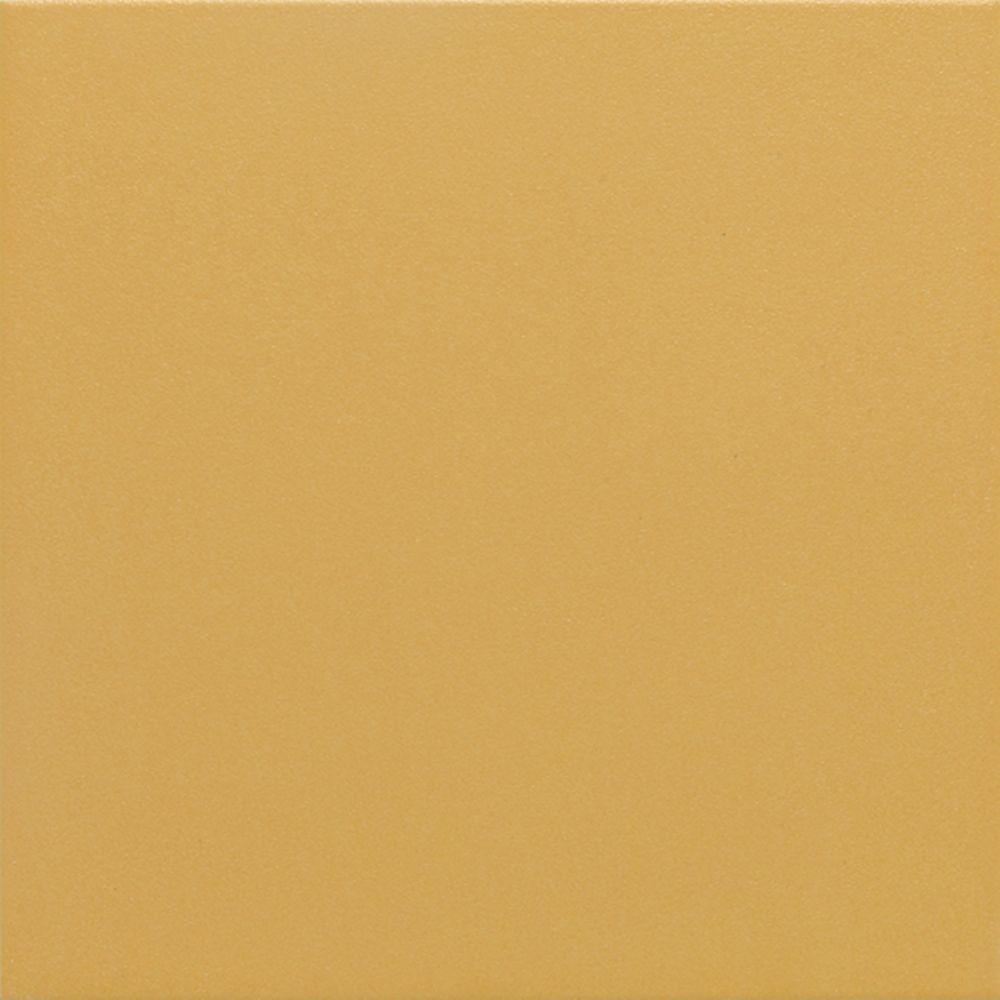 Daltile Colour Scheme Sunbeam Solid 12 in. x 12 in. Porcelain Floor and Wall Tile (15 sq. ft. / case)