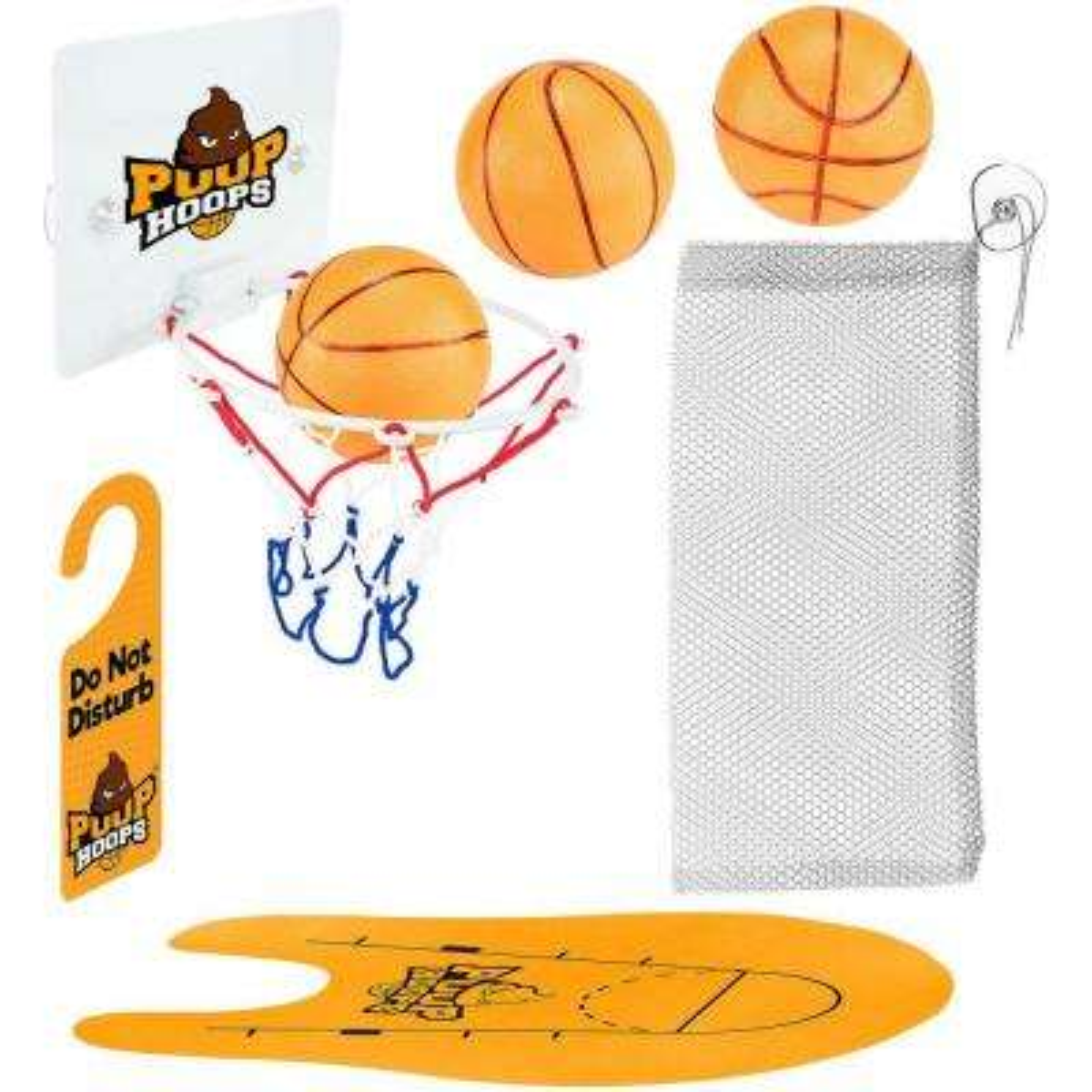 Poop Hoops Toilet Basketball