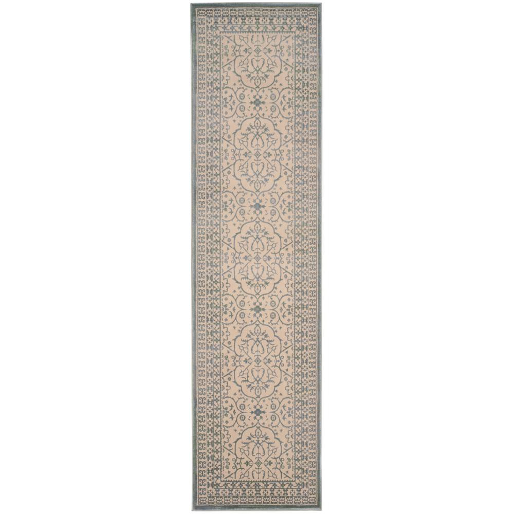 Safavieh Brilliance Cream Sage 2 Ft X 8 Ft Runner Rug Brl508a 28 The Home Depot