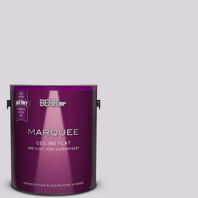 1 gal. #MQ3-29 Tinted to So Shy One-Coat Hide Flat Interior Ceiling Paint and Primer in One