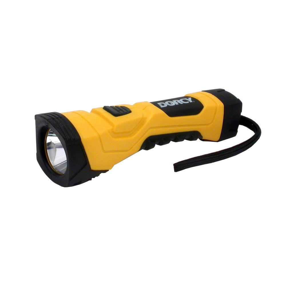 Dorcy Dorcy 190 Lumen 4AA LED Cyber Light with Battery, Yellow with Black Trim