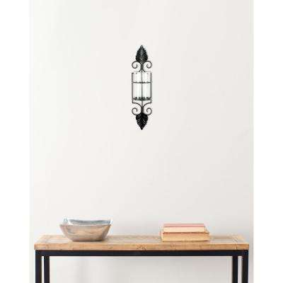 9.4 in. Pillar Sconce in Black