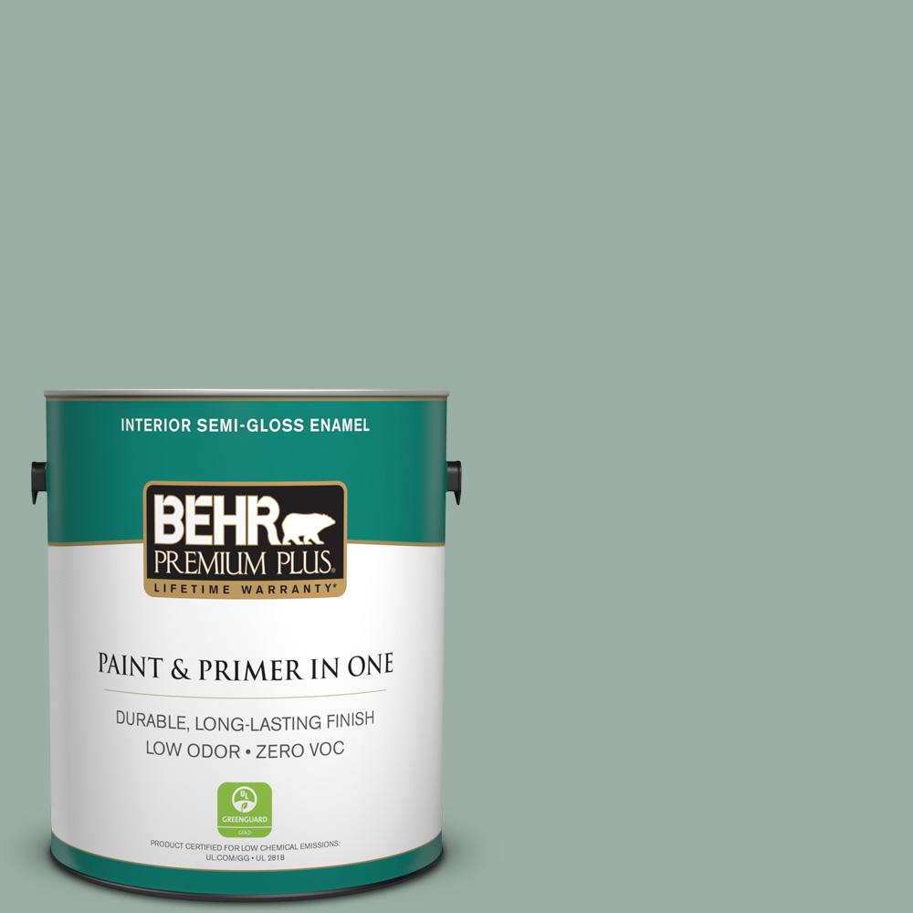 Home Decorators Collection 1-gal. #HDC-CT-22 Aged Jade Zero VOC Semi-Gloss
