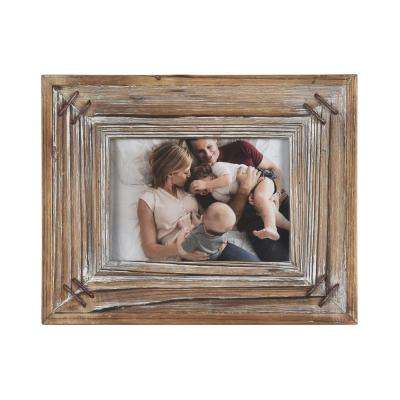 Fellman Rustic Wood 5 in. x 7 in. Picture Frame