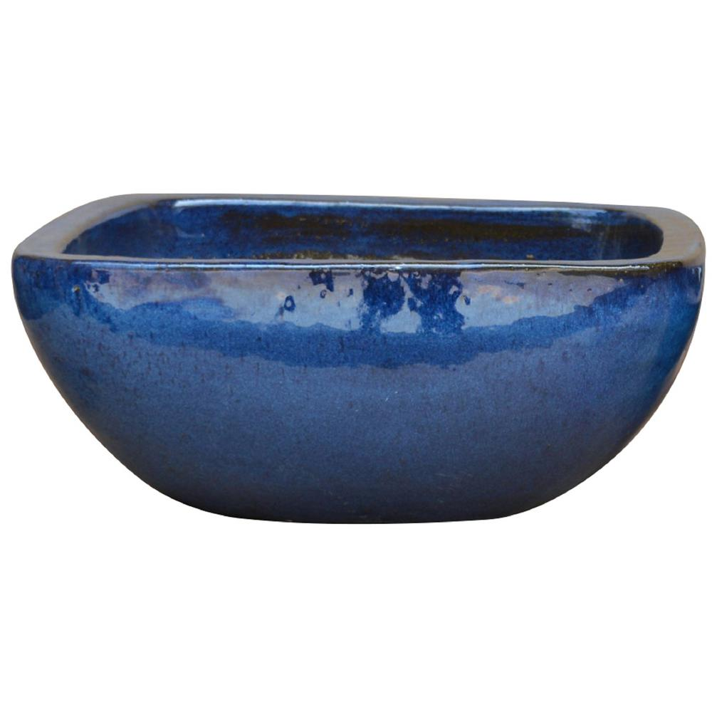 19 in. Dia Thorn Blue Ceramic Laguna Bowl