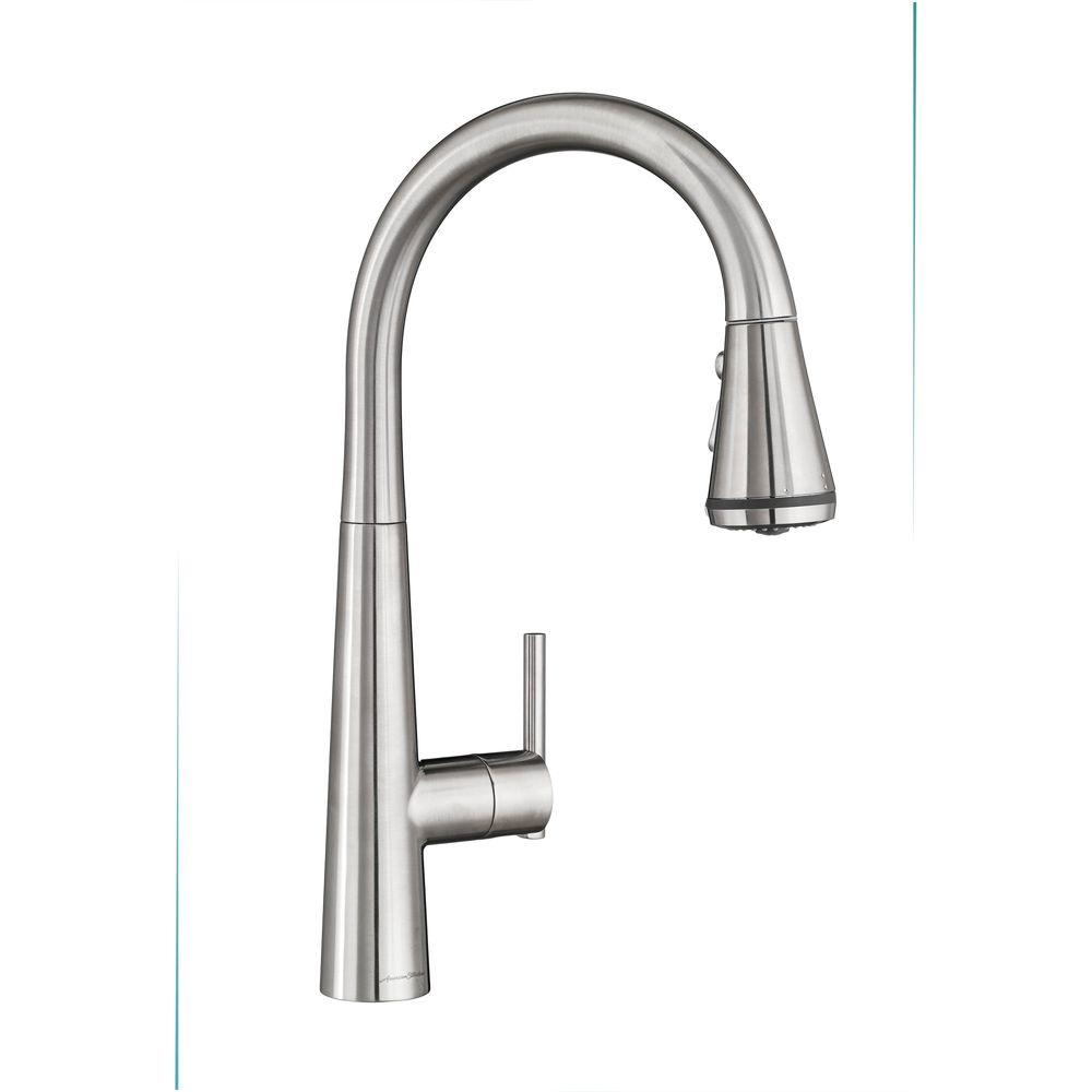 stainless sprayer steel glacier single with handle kitchen bay pull market faucet in product down spray faucets
