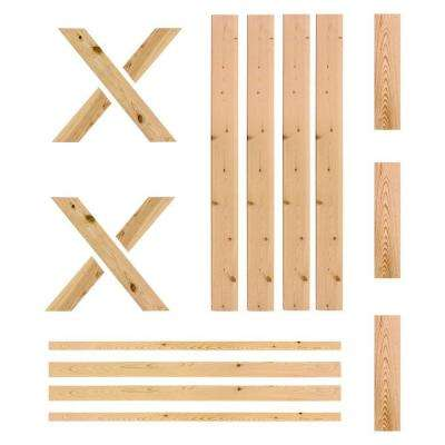 1-1/2 in. x 40 in. x 81 in. Ready-To-Assemble Unfinished Pine Barn Interior Door