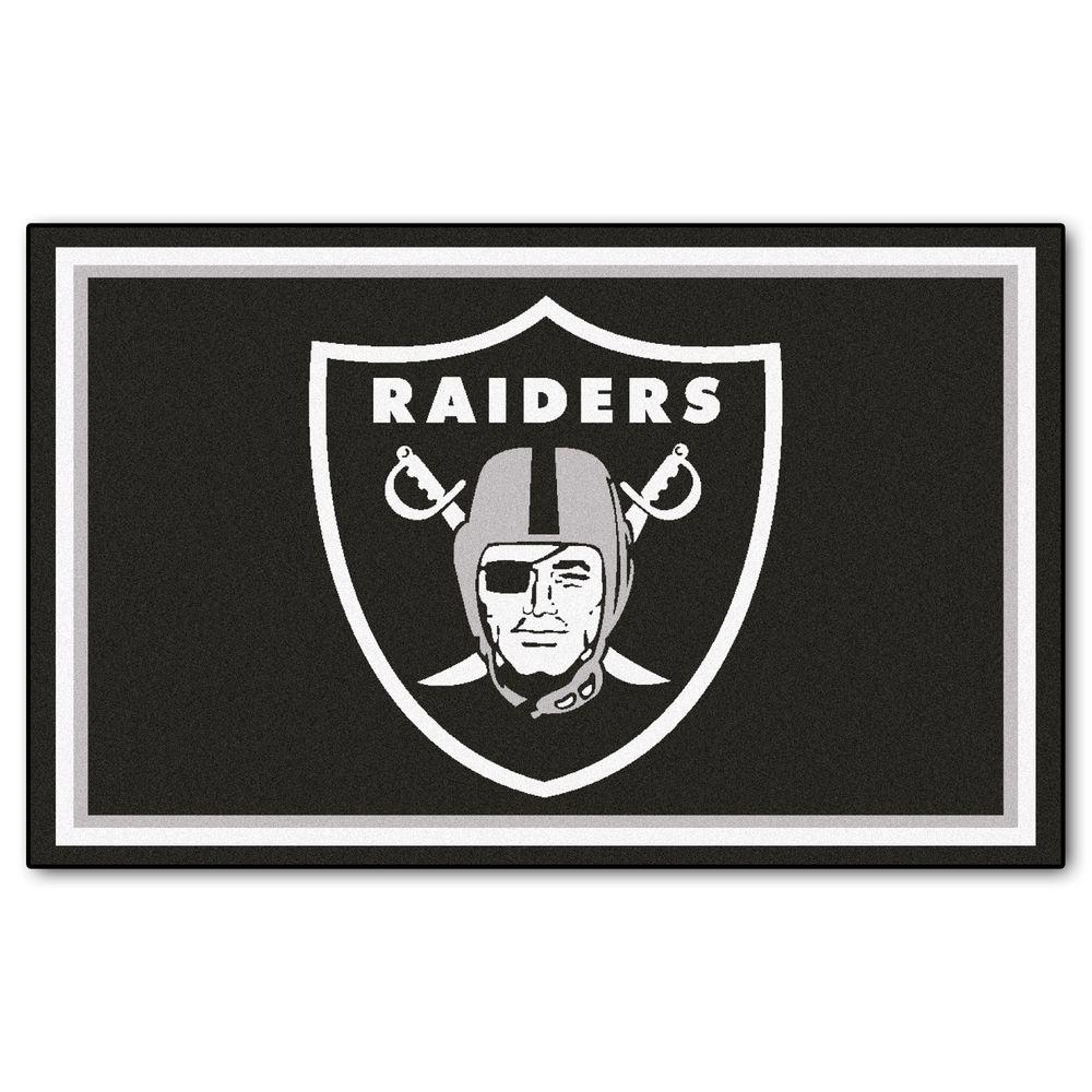 FANMATS Oakland Raiders 4 ft. x 6 ft. Area Rug