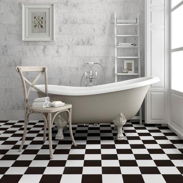 Merola Tile Checker 17 5 8 In X 17 5 8 In Ceramic Floor And Wall Tile 11 02 Sq Ft Case Fpeckr The Home Depot