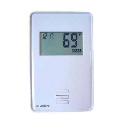 Digital Non-Programmable Thermostat for Electric Underfloor Heating in White