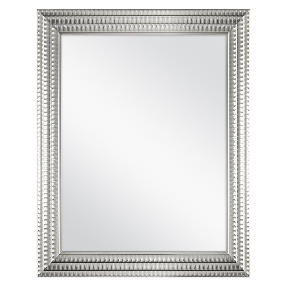 22 in. W x 27 in. H Framed Rectangular Anti-Fog Bathroom Vanity Mirror in Silver