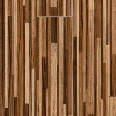 Take Home Sample - Random Block Plum Laminate Flooring - 5 in. x 7 in.