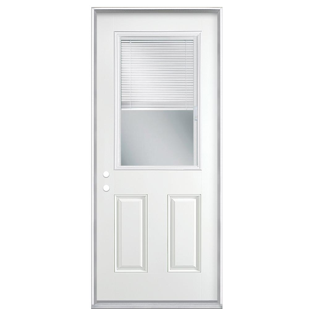 Masonite 36 In X 80 In Premium Clear 1 2 Lite Mini Blind