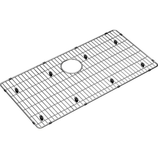 Crosstown 28.875 in. x 14.375 in. Bottom Grid for Kitchen Sink in Stainless Steel