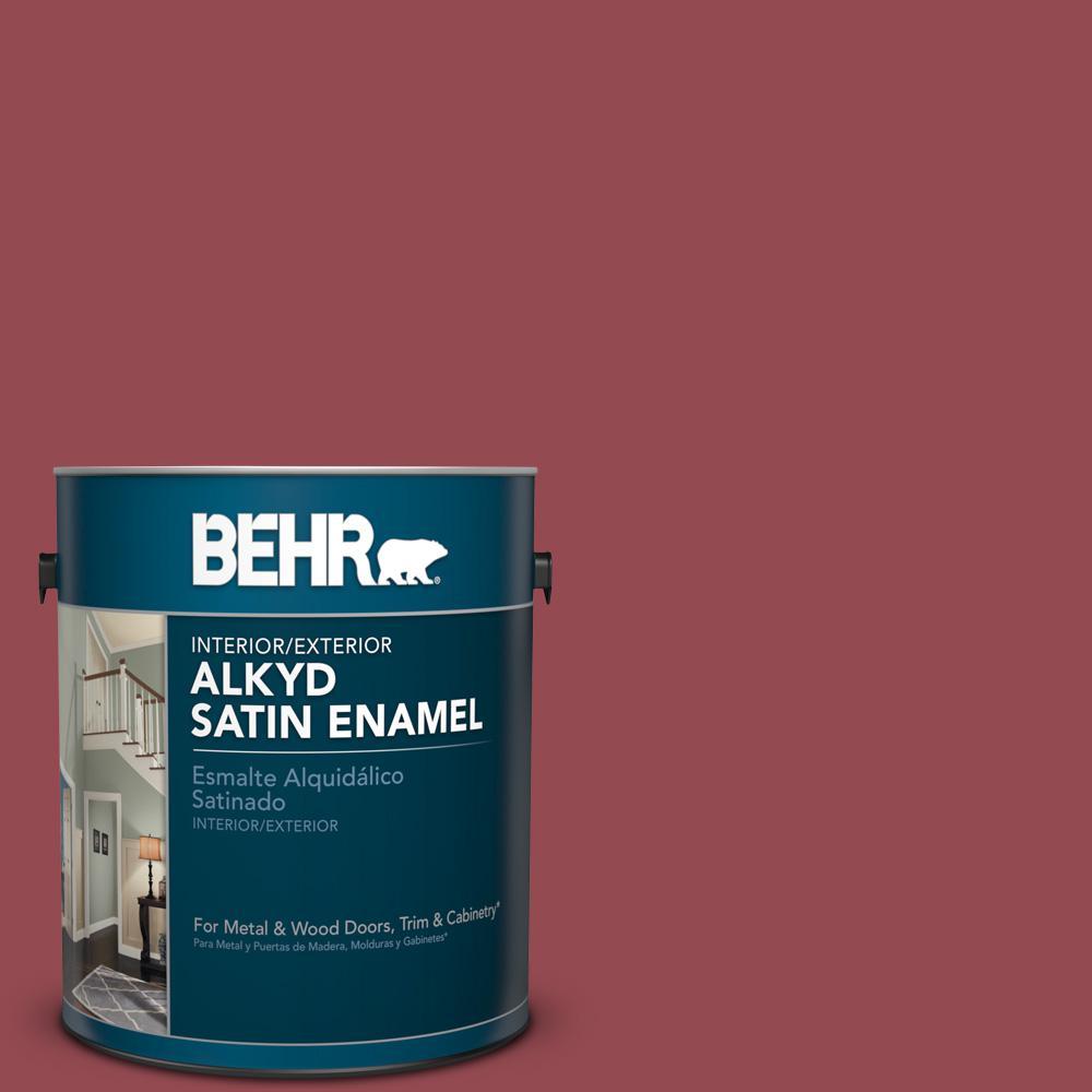 1 gal. #PPU1-11 Crantini Satin Enamel Alkyd Interior/Exterior Paint