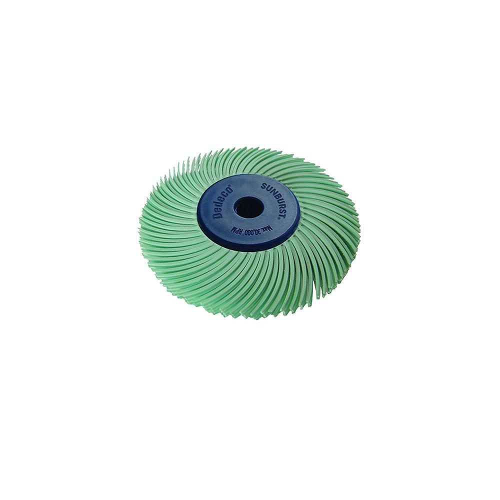 Dedeco Sunburst 2 in. 3-PLY Radial Discs 1/4 in. Arbor Thermoplastic Cleaning and Polishing Tool, U-Fine 1 Micron (1-Pack)