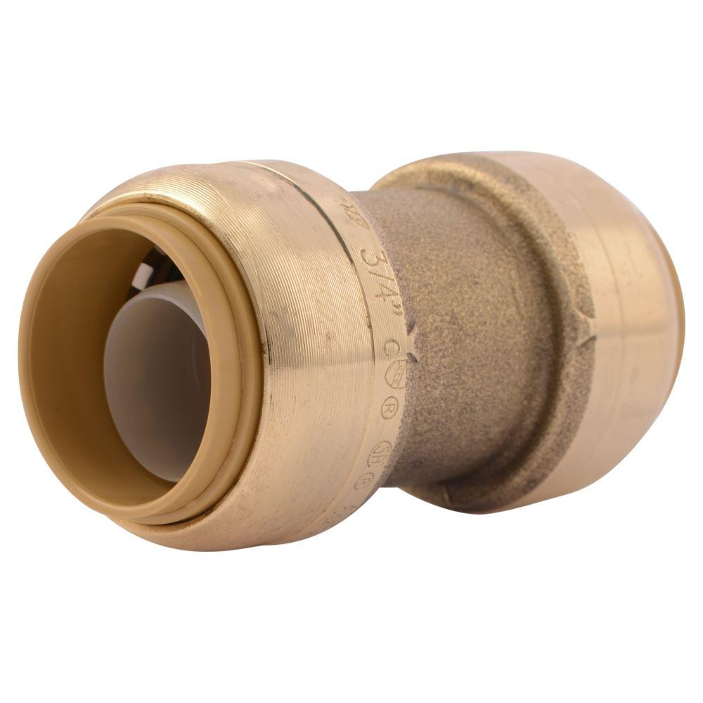 3/4 in. Brass Push-to-Connect Coupling