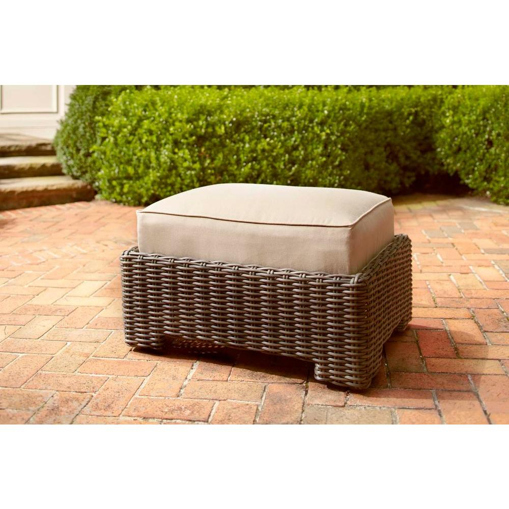 Brown Jordan Northshore Patio Ottoman With Harvest Cushion    STOCK