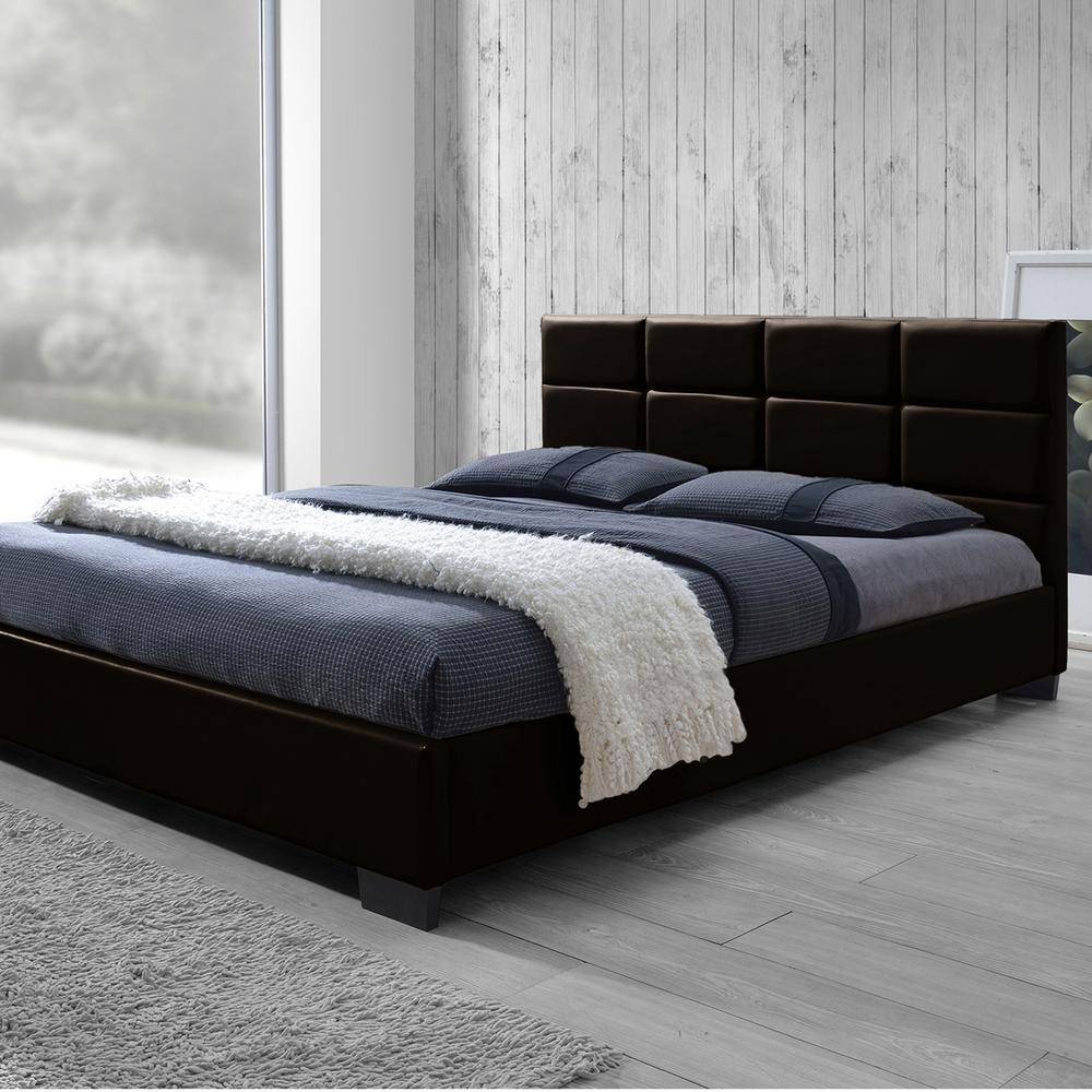 Vivaldi Brown Full Upholstered Bed