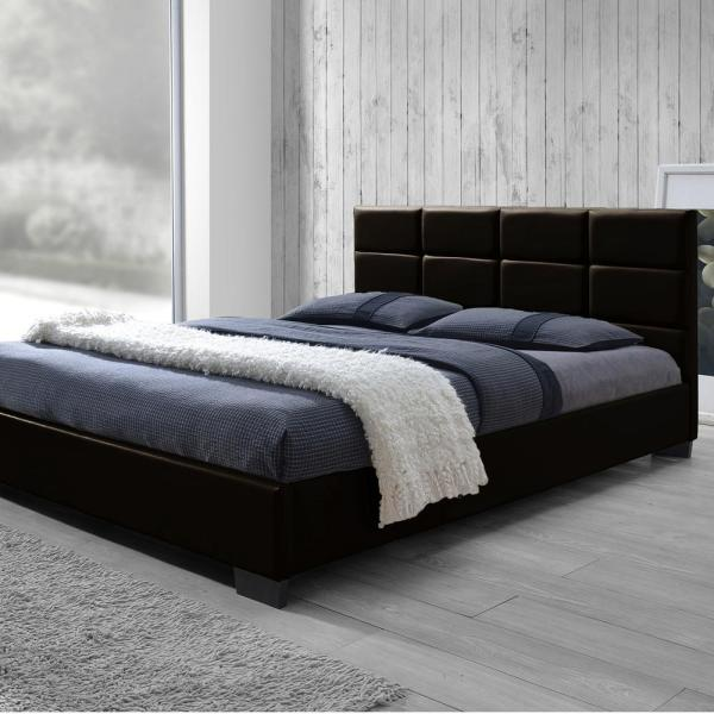 Baxton Studio Vivaldi Brown Full Upholstered Bed 28862-6679-HD